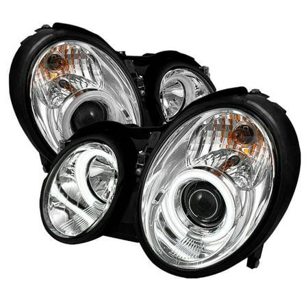 Fits 1998-2002 Benz W8 CLK-Class Dual CCFL Halo Projector Headlights Lamps
