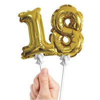 Talking Tables Pack of 12 Gold Foil Number Balloons