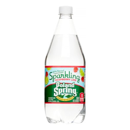 Poland Spring Sparkling Natural Spring Water, Raspberry Lime, 33.8 Fl Oz, 12 Count