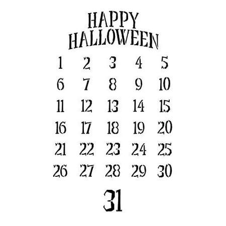 Halloween Countdown Stencil - 9