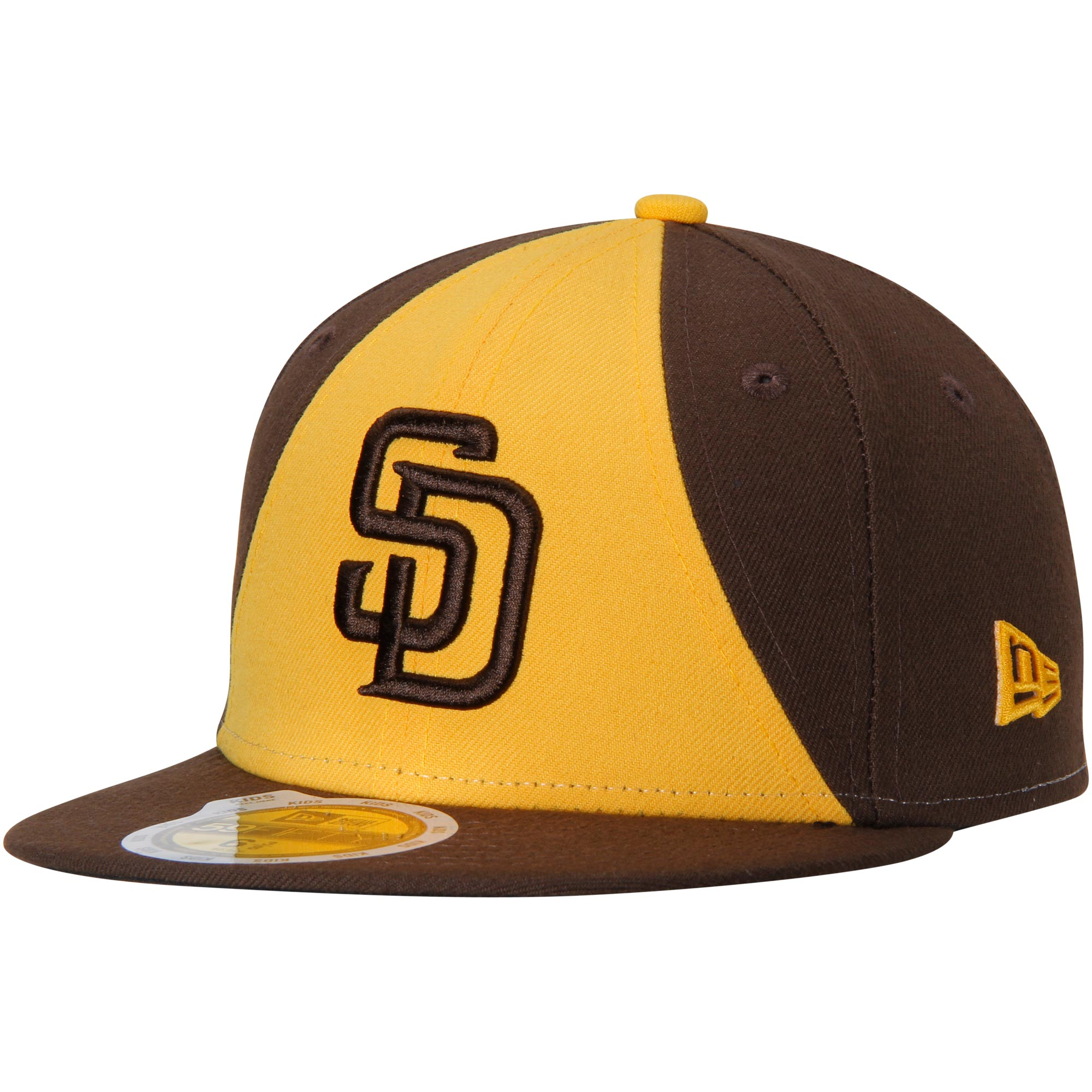 San Diego Padres New Era Youth Authentic Collection On-Field Alternate 2 59FIFTY Fitted Hat - Brown/Gold