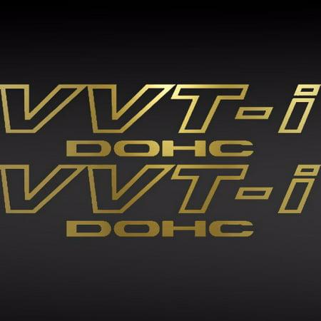(2) Toyota Tech TRD VVT-I DOHC Vinyl Decal Car Window Sticker Supra GOLD Toyota Trd Decals