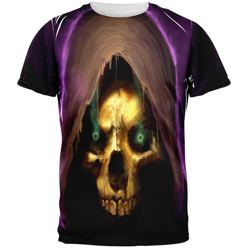 Halloween Grim Reaper All Over Adult T-Shirt