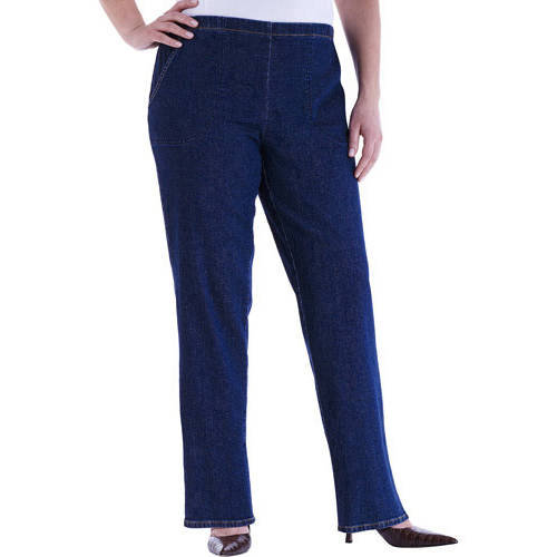 Just My Size Women's Plus-Size 2-Pocket Stretch Pull-On Pants, Petite