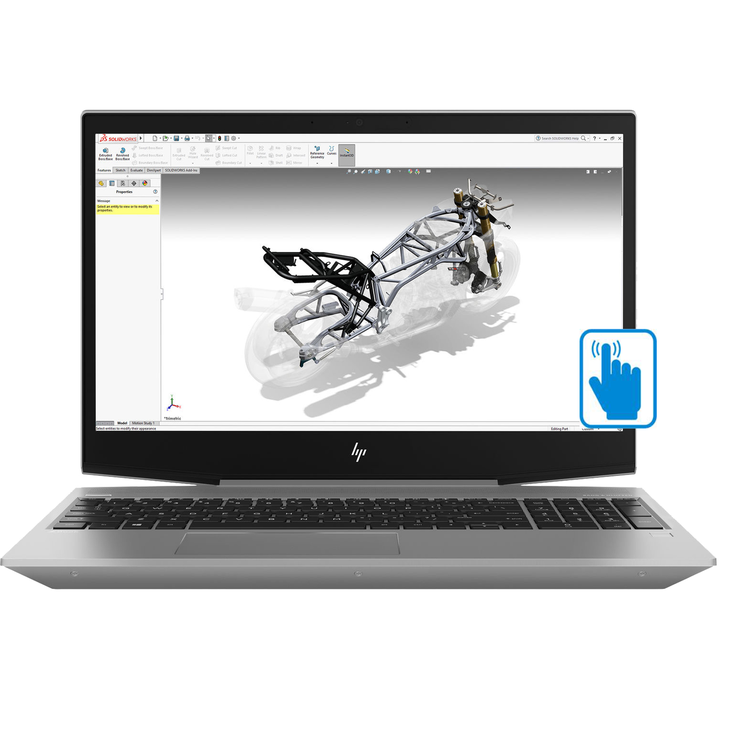 "HP ZBook 15v G5 Premium Home and Business 15.6 Touchsreen Mobile Workstation Laptop (Core i7-8750H, 8GB RAM, 256GB PCIe SSD, 15.6"" FHD 1920x1080, NVIDIA Quadro P600, Fingerprint, Win10 Pro)"