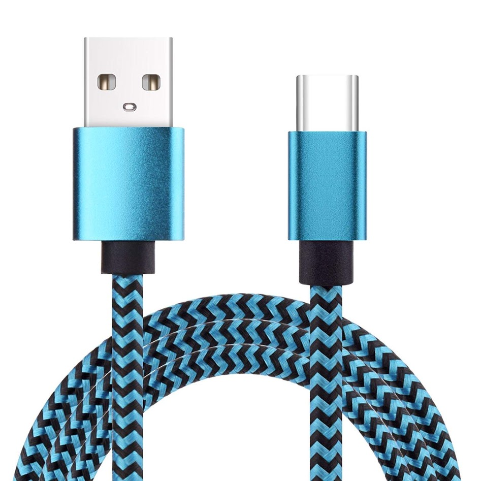USB Type C Cable, KOOTION Type C to USB Cable (3.3ft) Nylon Braided Android Cables Fast Charger Cord for LG G6 G5 V30, Nexus, Moto, HTC and More