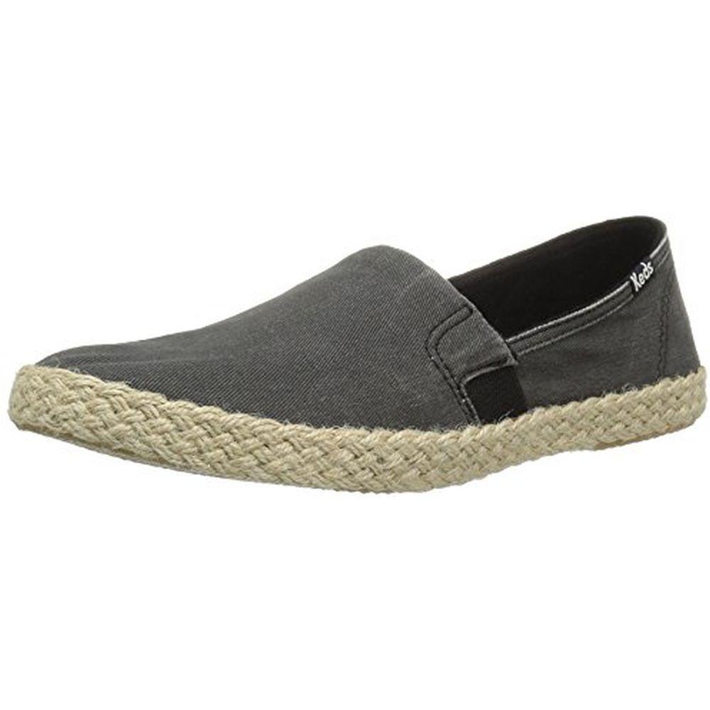 Keds WF56468 Women's Chillax a-Line Jute Seasonal Solid Fashion Sneaker, Black, 8.5 M US by Keds