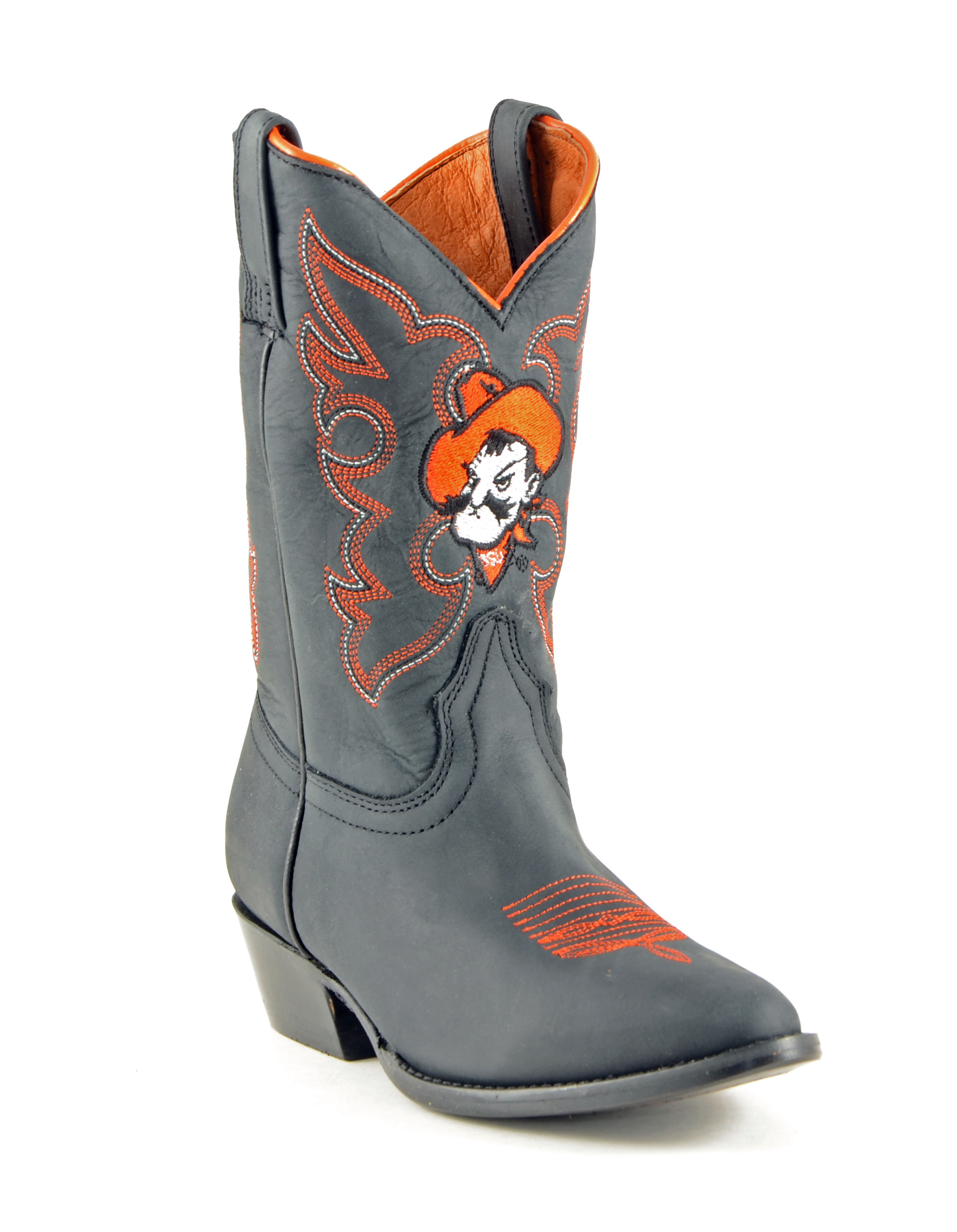 Gameday New Boys Honey Leather Oklahoma State Embroidered Cowboy Boots by GameDay Boots