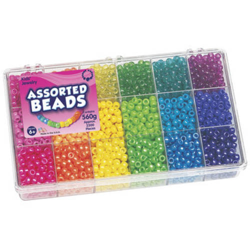 Sparkle Brights Pony Bead Box, 2,500 Pieces
