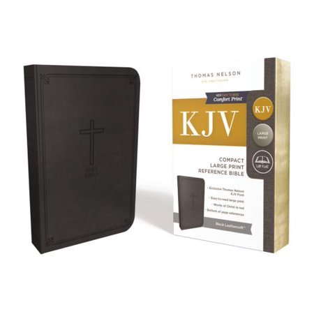 KJV, Reference Bible, Compact, Large Print, Leathersoft, Black, Red Letter Edition, Comfort Print : Holy Bible, King James