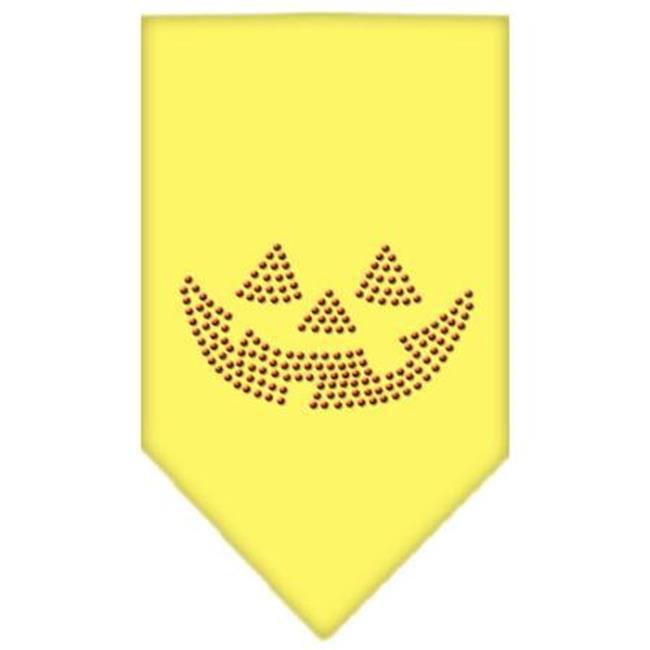 Jack O Lantern Rhinestone Bandana Yellow Large - image 1 de 1