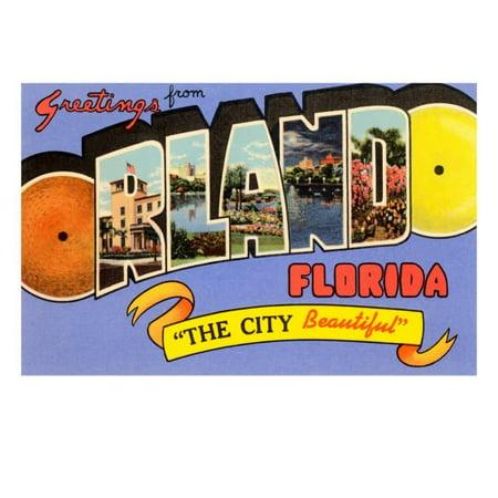 Greetings from Orlando, Florida Print Wall - Halloween Store Orlando Florida