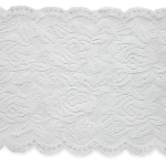 """Expo Int'l 10 Yds of Ally 5 1/2"""" Stretch Chantilly Lace Trim by the yard"""