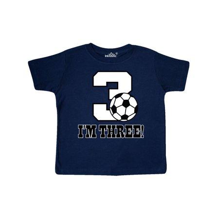 3rd Birthday Soccer Toddler T-Shirt