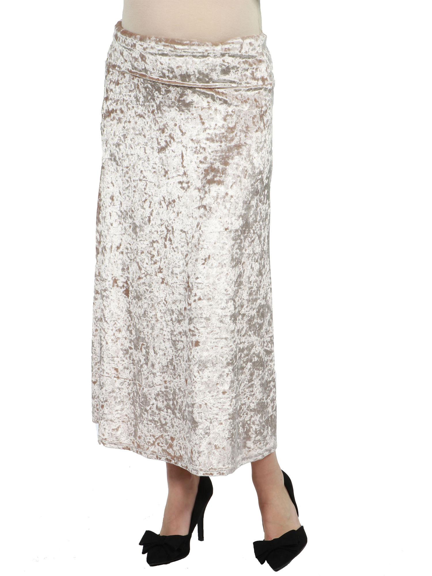 Jazz Velvet Maternity Skirt by 24/7 Comfort Apparel