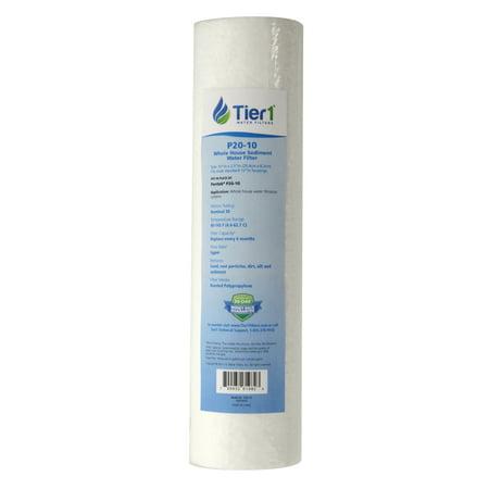 Tier1 Replacement for Pentek P20 30 Micron 10 x 2.5 Spun Wound Polypropylene Sediment Water - Wound Polypropylene Filter