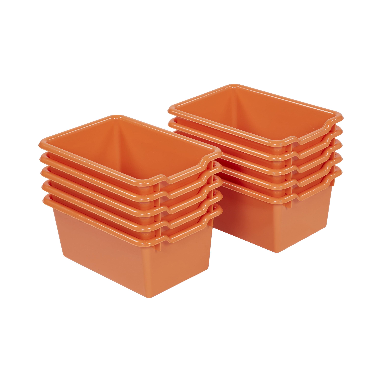 Scoop Front Storage Bins - Clear -10pk