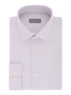 Mens Multi-Pinstriped Regular Fit Dress Shirt 18