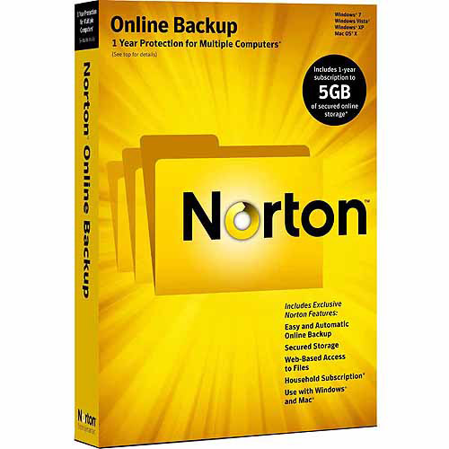 Symantec Corp Norton Online Backup 5Gb (Windows, Mac) (Digital Code)