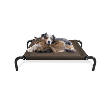FurHaven Pet Cot Bed | Elevated Cot Pet Bed for Dogs & Cats, Espresso, Extra Small