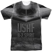 United States Air Force USAF B-2 Spirit Stealth Bomber Adult Front Print T-Shirt