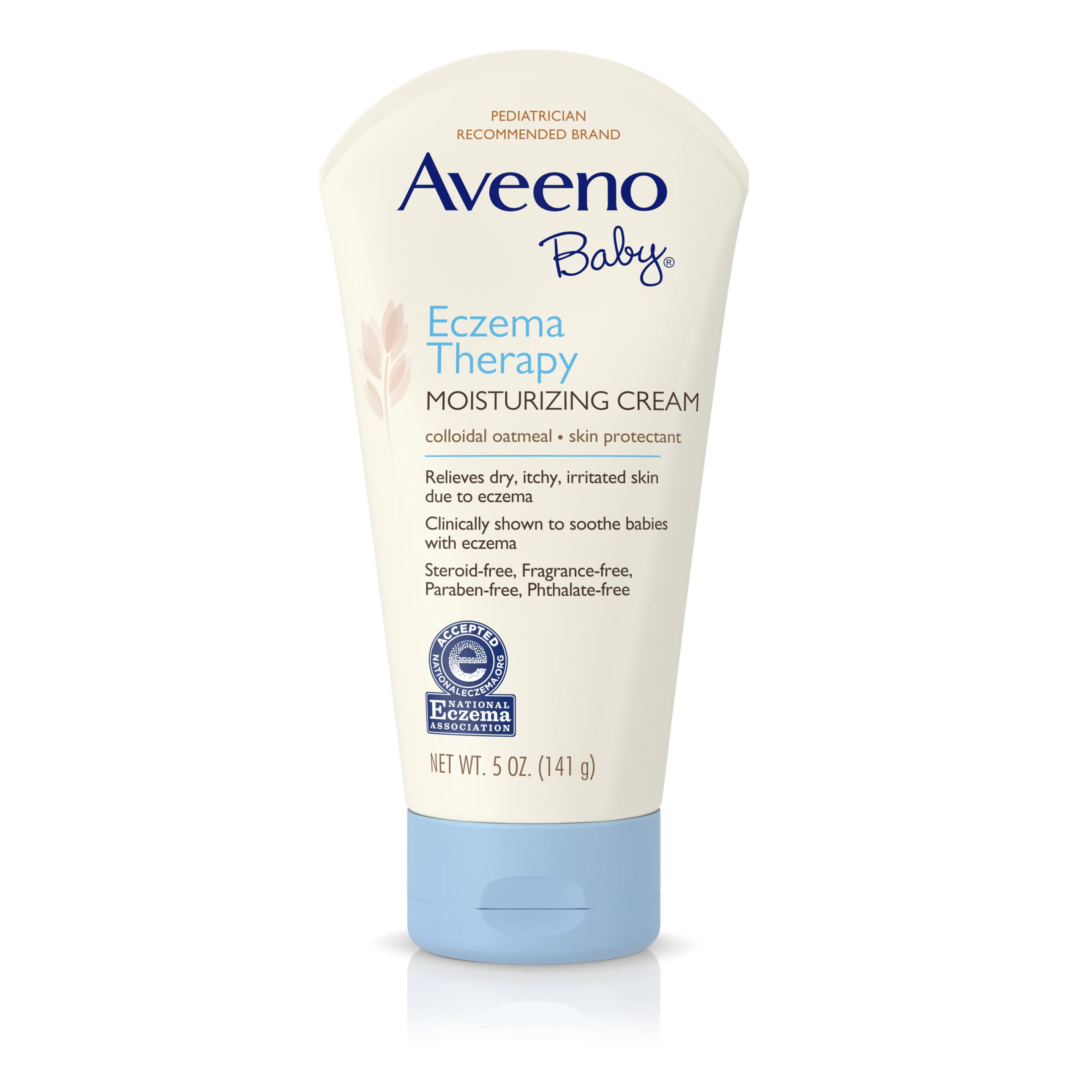 Aveeno Baby Eczema Therapy Moisturizing Cream For Dry Skin, 5 Oz. - Walmart.com