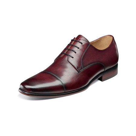 Florsheim Mens Postino Cap Toe Oxford, Burgundy Smooth, Size 12.0