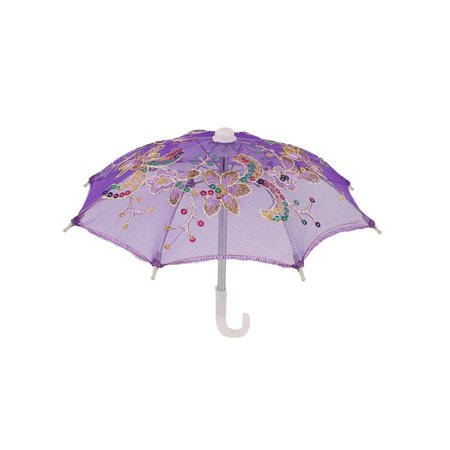 Handmade Wedding Sequin Decor Cotton Lace Mini Parasol Children Umbrella - Lace Umbrellas