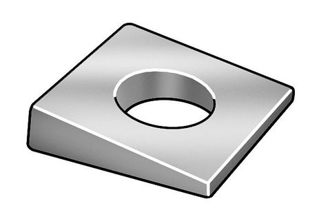 10 pk. M8 Zinc Plated Finish Steel Square Beveled Washers
