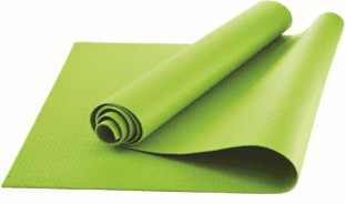 Athletic Works Yoga Mat, Lime Green, 3mm by Wal-Mart Stores, Inc.
