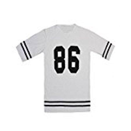 Women`s Baseball T Shirt Top Loose Dress,Medium,White](Baseball Dress)