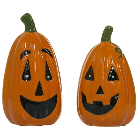 Halloween Pumpkin Salt & Pepper Shakers, Ceramic By Ganz