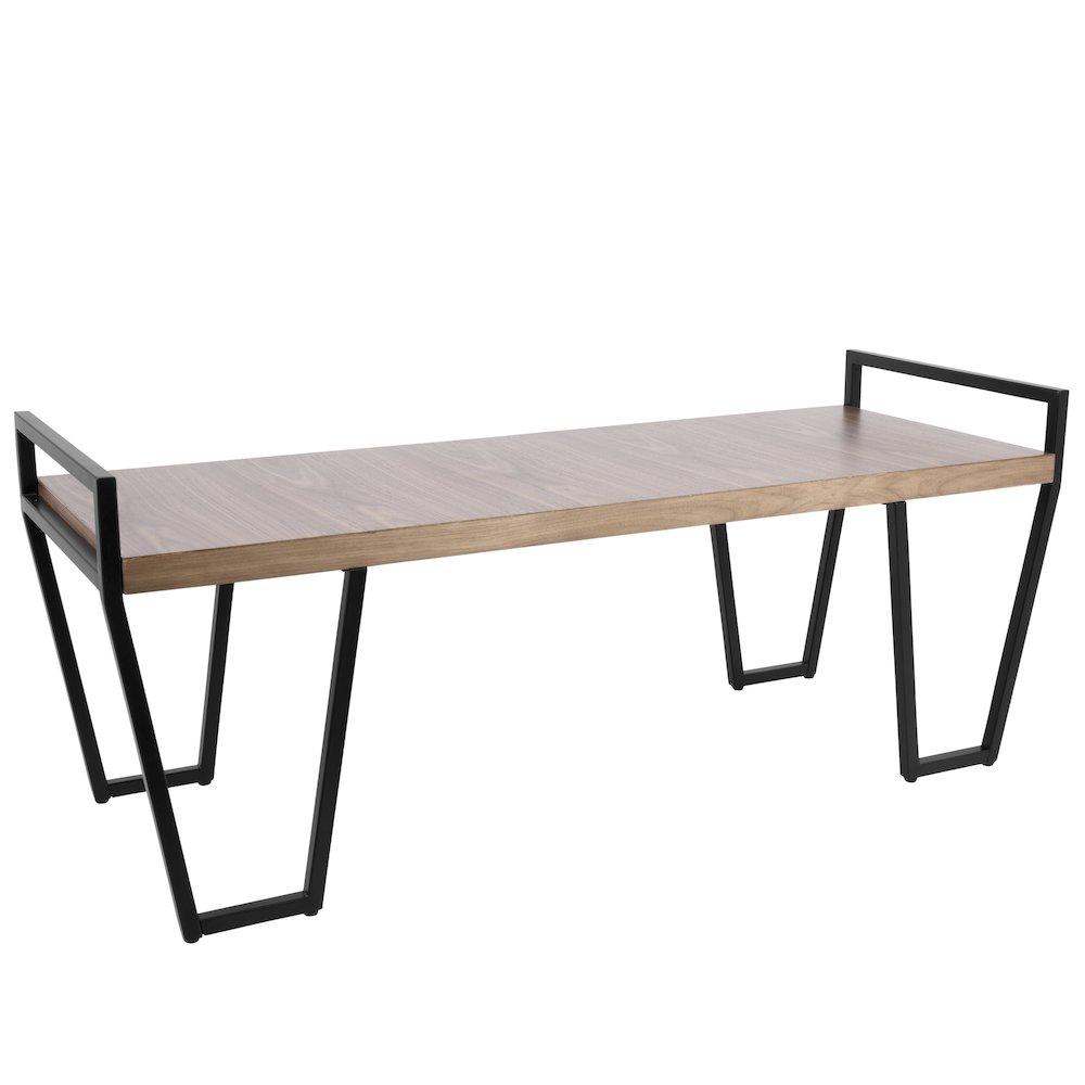 Julien Industrial Bench in Black and Walnut by Lumisource by