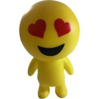 Yellow Heart Eyes Emoticon Emoji Squeaky Squeeze Figure Relief Toy