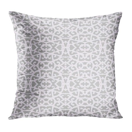 ECCOT Gray 1920S Simple Elegant Lace Pattern White Shapes on Grey Silver in for Holiday Winter Seasons 1930S Pillowcase Pillow Cover Cushion Case 16x16 inch
