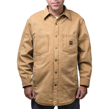 Men's Vintage Duck Shirt Jacket Washed Graphite (Pecan Apparel)