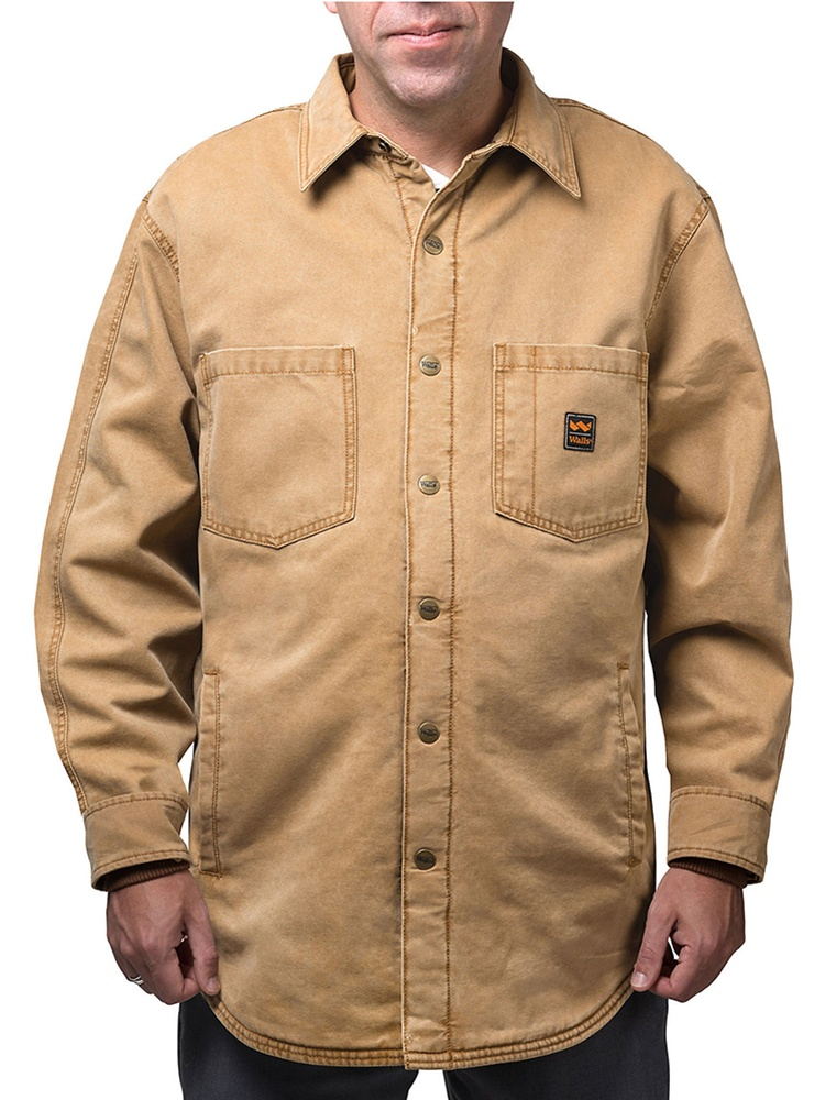 Men's Vintage Duck Shirt Jacket Washed Graphite L