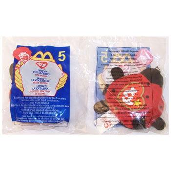 TY McDonald's Teenie Beanie - #5 LUCKY the Ladybug (2000) (4.5 inch)