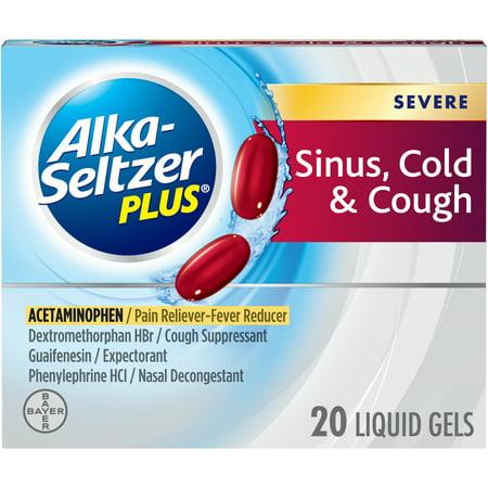 Alka-Seltzer Plus Severe Sinus, Cold & Cough, Liquid Gel,