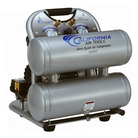 California Air Tools 4620AC-22060 Ultra Quiet & Oil-Free 2.0 Hp, 4.0 Gal. Aluminum Twin Tank Air Compressor (220V 60HZ)