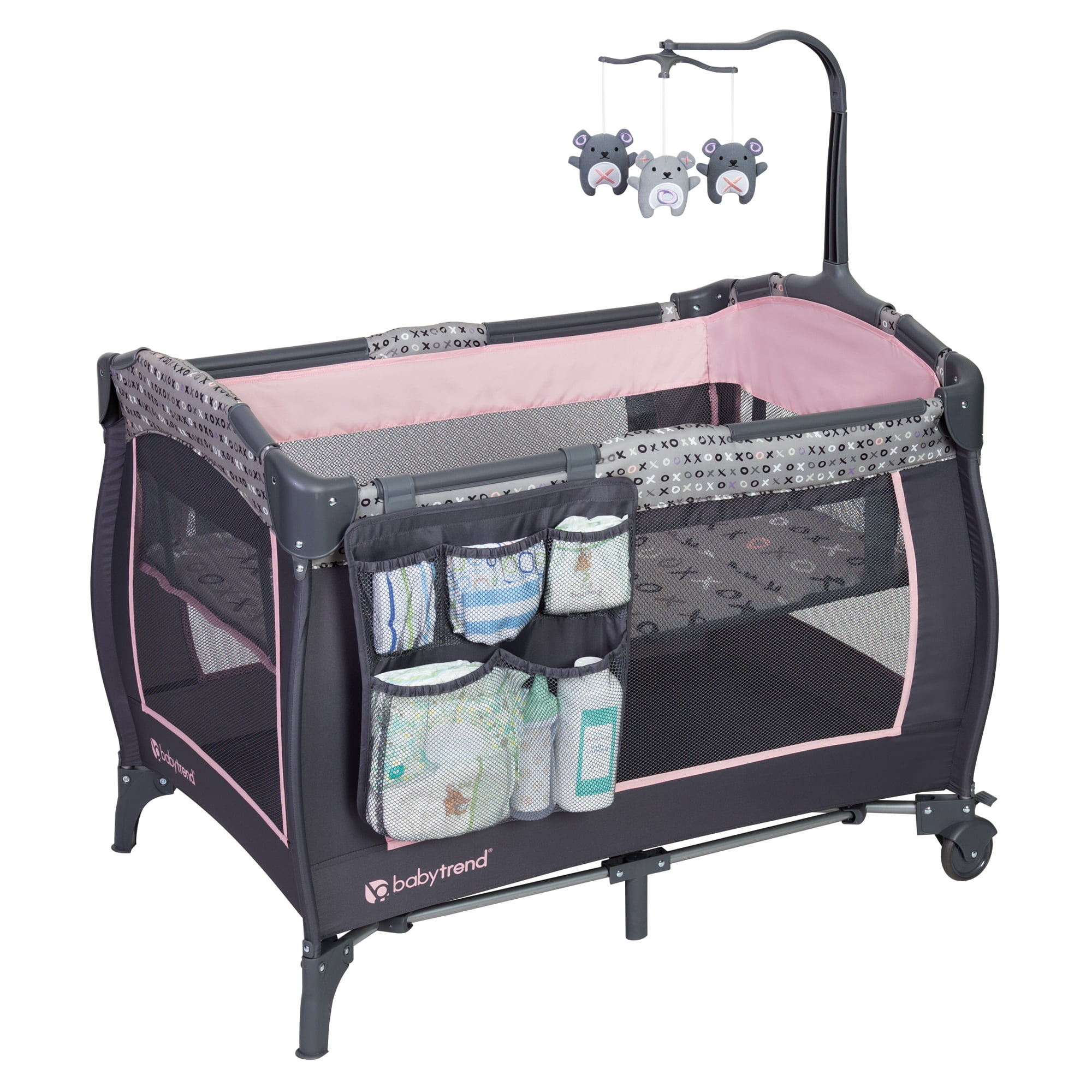 Baby Trend Trend-E Nursery Center Play Pen, Starlight Pink by Baby Trend