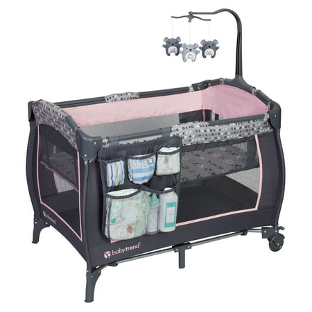 Baby Trend Trend-E Nursery Center Playard, Starlight Pink