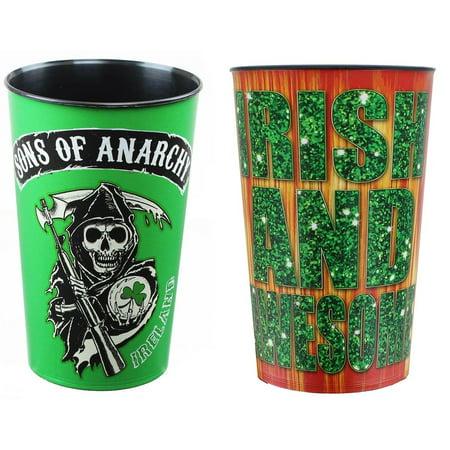 Sons Of Anarchy Ireland 32Oz Stadium Cup Bundle  Set Of 2