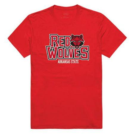 Arkansas State University Red Wolves Freshman Tee T-Shirt Red Large