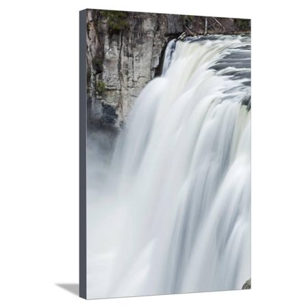 Upper Mesa Falls, Targhee National Forest Stretched Canvas Print Wall Art By Paul Souders