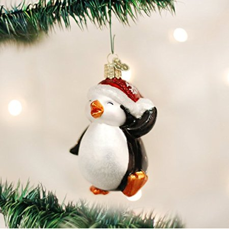 Old World Christmas Dancing Penguin Glass Blown Ornament