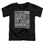 The Sandlot The Great Bambino Little Boys Shirt Black Baseball Movie