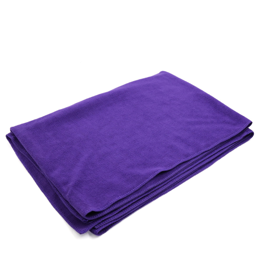 160cm x 60cm Purple Polishing Cleaning Washing Wipe Towel Cloth for Home Car - image 3 de 3