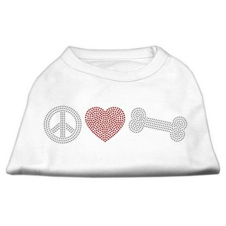 Peace Love and Bone Rhinestone Shirt White M (12)