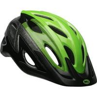 Bell Axle Bike Helmet, Black/Green, Adult 14+ (54-61cm)